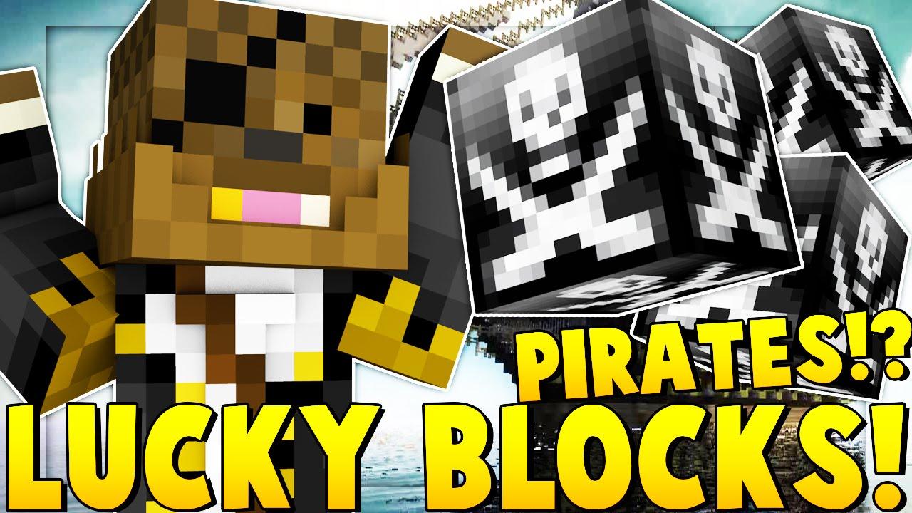 NEW* PIRATE LUCKY BLOCK MOD SHIP BATTLE | Minecraft - Lucky