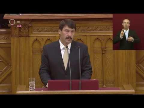 Áder János, köztársasági elnök beszéde a Magyar Országgyűlés alakulóülésén (2014.05.06)