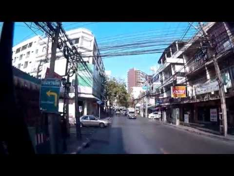 Traffic Busride in Bangkok / Thailand/ 2015 FullHD