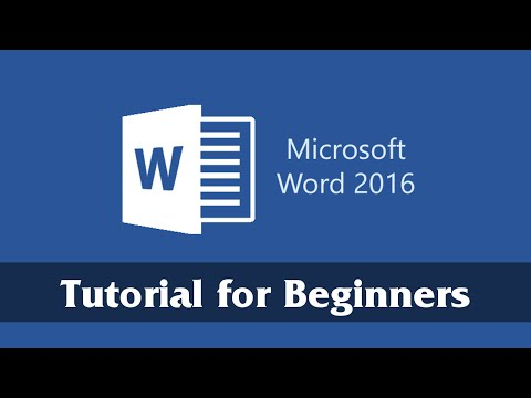 Introduction to Microsoft Word 2016 - Getting Started Tutorial for Beginners