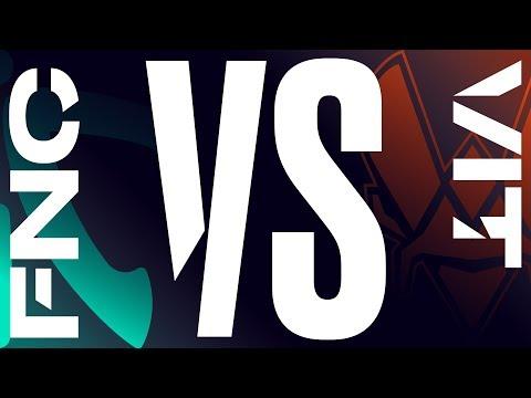 FNC vs. VIT - Week 8 Day 2 | LEC Summer Split | Fnatic vs. Vitality (2019)