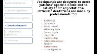 Toothpaste formulas, oral hygiene and dental care