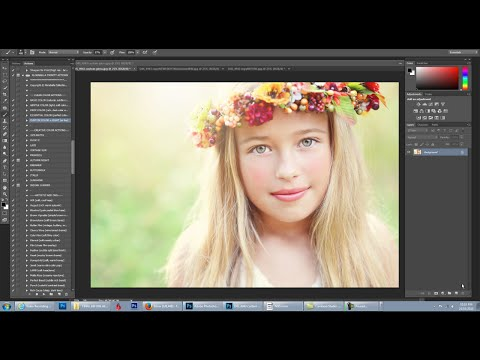 Florabella Trinity Photoshop Actions Video 7 - Sheer Movable Hazy Sunlight