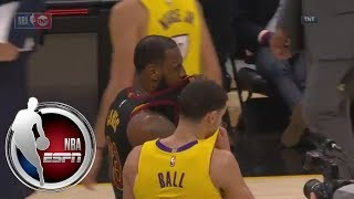 LeBron James and Lonzo Ball