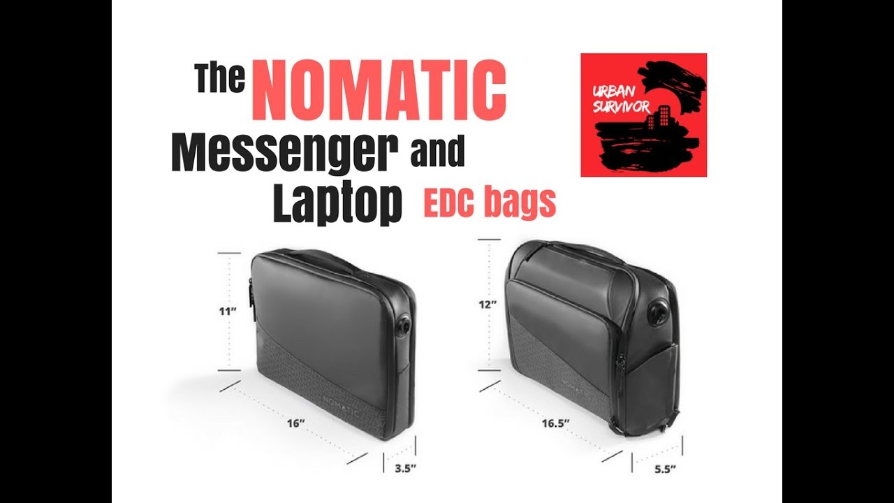 The NOMATIC Messenger and Laptop Bags - YouTube 13251a24f96d3