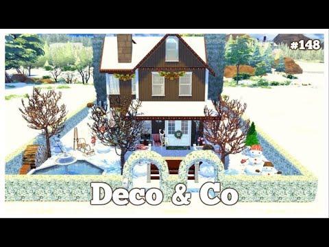 Les Sims 4  DECO & CO #148  CHRISTMAS HOUSE + CC DOWNLOAD