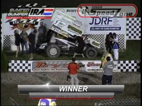 IRA Outlaw Sprint Series A-Main at Oshkosh Speedzone Raceway - June 21, 2013