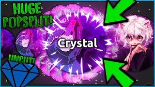 MOST INSANE ALIS.IO POPSPLITS! Crystal & Marl DESTROYING Alisio UNCUT!