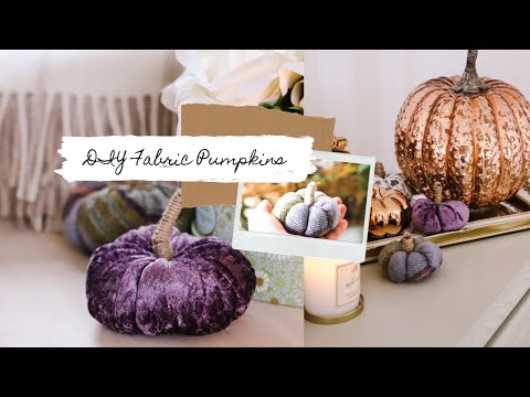 How to sew fabric pumpkins, rustic farmhouse style
