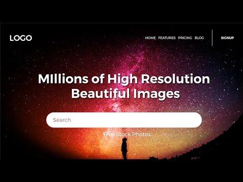 How To Design Cool Website Header In Photoshop | Web Design Tutorials