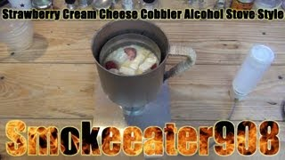Strawberry Cream Cheese Cobbler Alcohol Stove Style