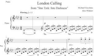 Star Trek: Into Darkness - London Calling for Piano (SHEET MUSIC)