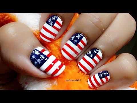 4th july nail art tutorial united