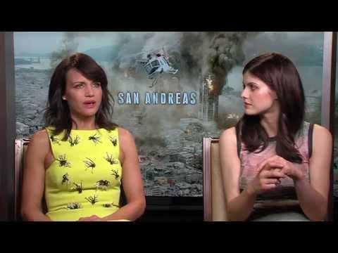 San Andreas Interview - Alexandra Daddario & Carla Gugino