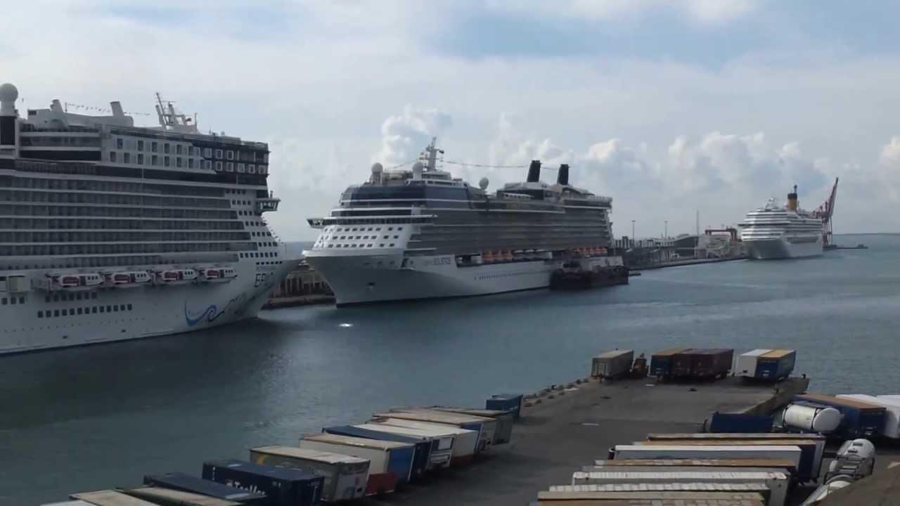 Norwegian Epic Docked At Barcelona Port Youtube