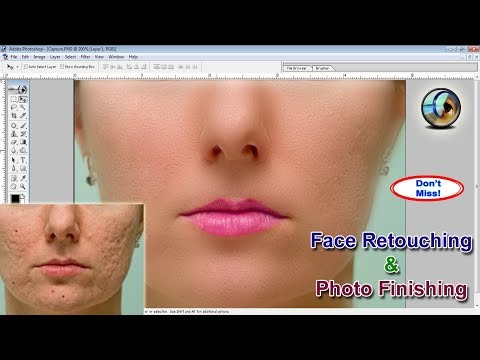 Face Retouching, Retouching Photoshop Tutorial, Photo Finishing, Smooth Skin Photoshop 7.0