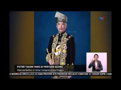 Nn8 Potret Rasmi Yang Di Pertuan Agong Dipersembahkan Di Instagram Istana Negara 16 Julai 2019 Youtube