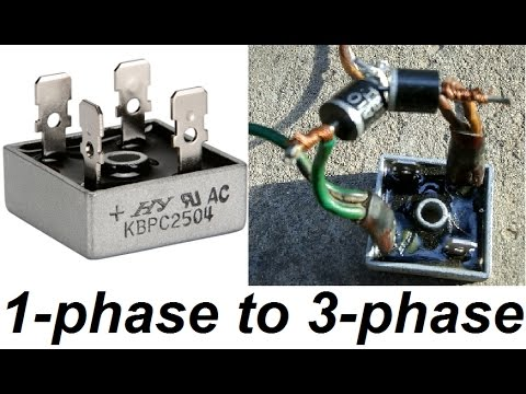 3 Phase To 1 Phase Wiring Diagram How To Transform A 1 Phase Rectifier Into 3 Phase Simple