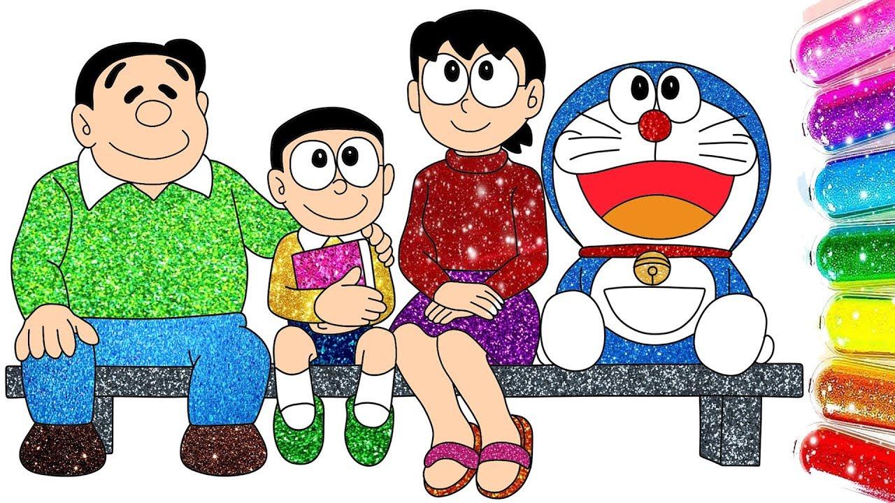 Doraemon Nobita Family Photo