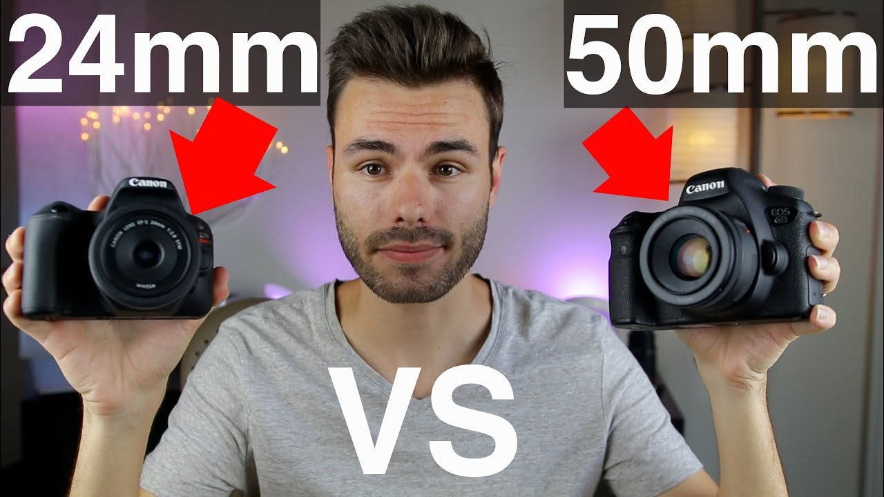 Canon 24mm F2 8 vs 50mm F1 8