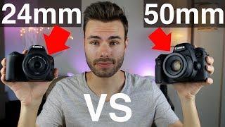 Canon 24mm F2 8 vs 50mm F1 8