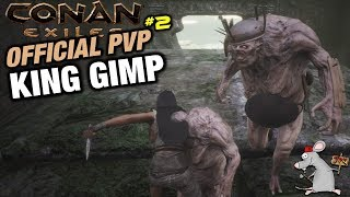 CONAN EXILES OFFICIAL PVP SERVER #2 East Barracks/Defeating Imp King