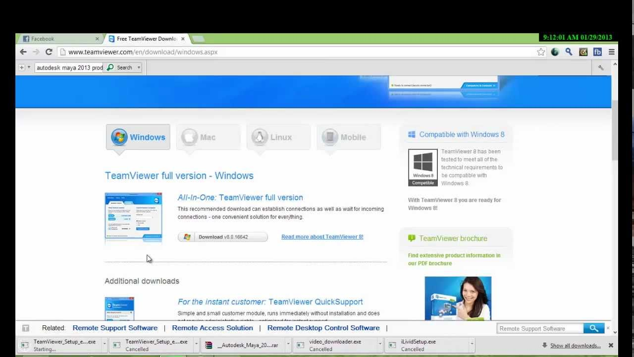 How to download Teamviewer 8 in Windows