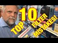 TOP 10 Aquarium Filter MISTAKES [DON'T MAKE THESE] - Some Can KILL Your Fish!