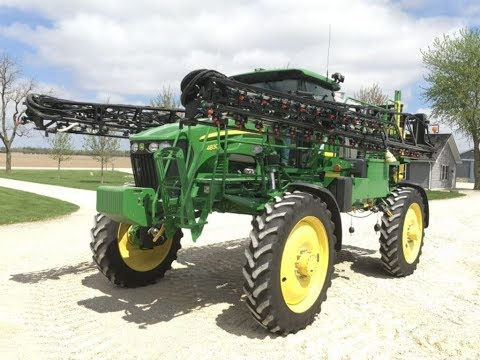 2009 John Deere 4830 Sprayer with 742 Hours Sold for $166,000 on Illinois Farm Auction Saturday