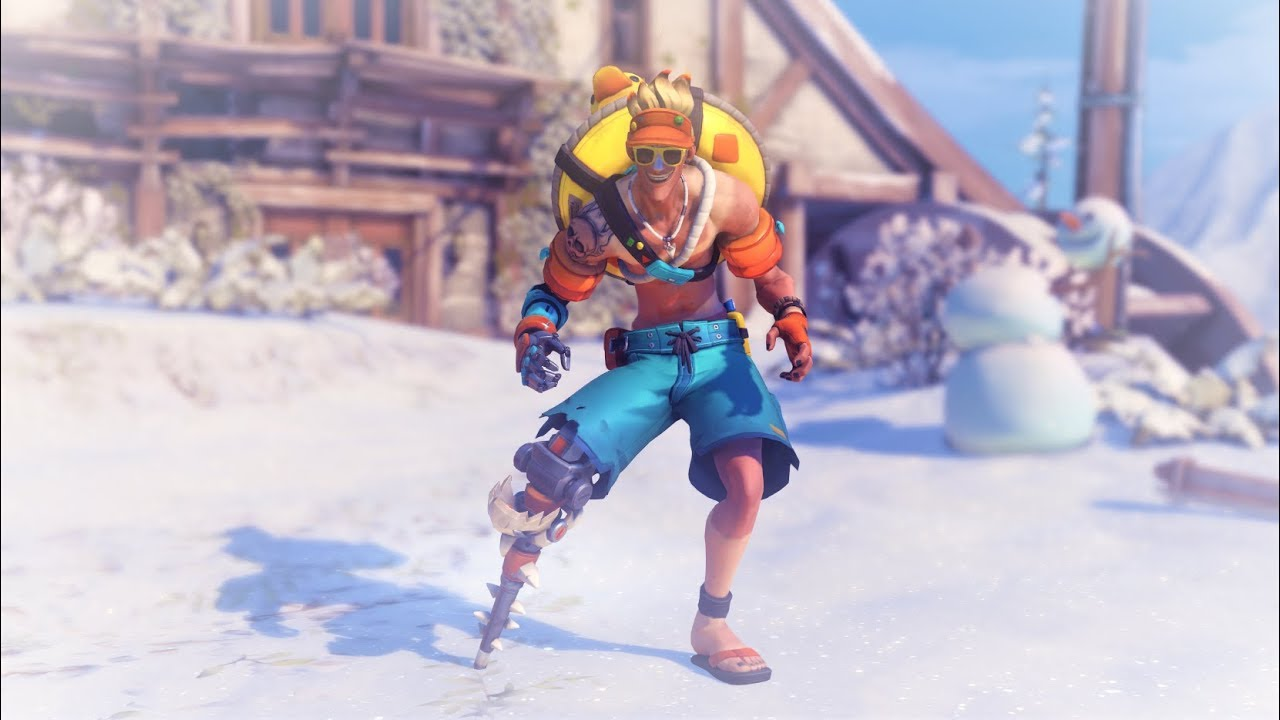 Overwatch Winter Wonderland Junkrat | Beachrat Skin (Legendary ...