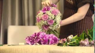 Best Buds Florist: The making of a fabulous purple wedding bouquet