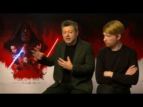 STAR WARS - THE LAST JEDI Interview Andy Serkis & Domhnall Gleeson - Why Dark Side is more fun
