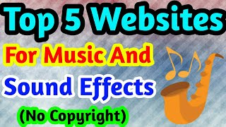 No Copyright Music Websites // Royalty free music sites // Best Site For no copyright sound effects