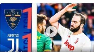 Resumen Juventus vs Lecce 1-1  brillo partido loco