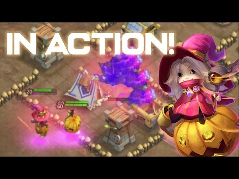 Castle Clash: Halloween Update 2016!! Trixie Treat In Action + Pets + Rolling 18K Gems