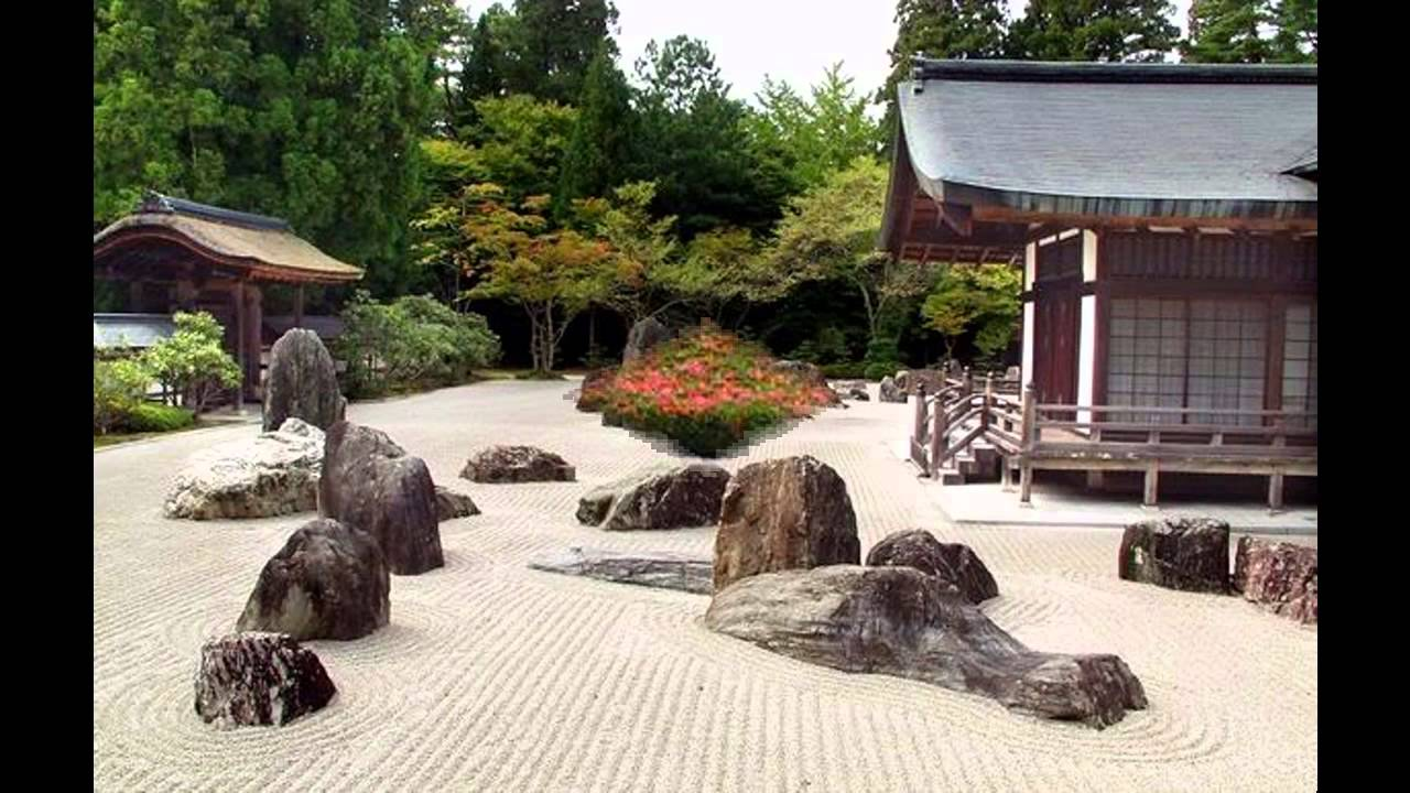 Stunning Japanese Rock Garden Youtube