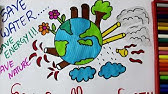 Stop Global Warming Poster Drawing Poster Youtube