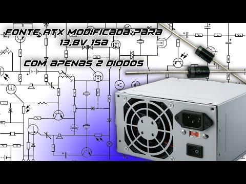 Carregador de bateria com fonte ATX