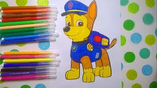 Щенячий патруть Гонщик розмальовки /Раскраски для детей / coloring pages Paw Patrol Chase