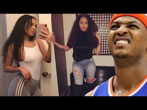 Carmelo Anthony SIDECHICK reveals their baby to the world