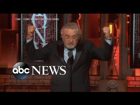 Robert De Niro delivers antiTrump tirade at Tony Awards