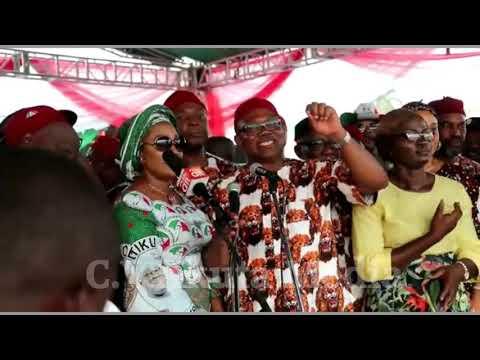 Atiku,Obi at Onitsha PDP Presidential Rally.