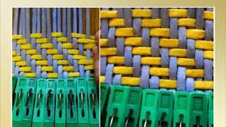 """Плетение из бумаги способом """"Художественная штопка"""" - урок 1/Weaving of paper"""