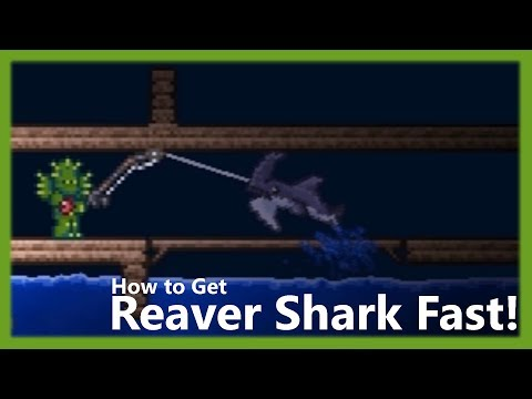 Terraria - How To Get The Reaver Shark Pickaxe Fast!