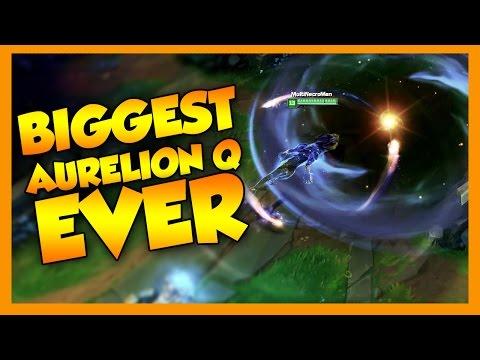 Biggest Aurelion Sol Q EVER - League of Legends