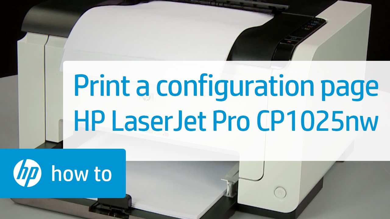 Printing a Configuration Page - HP LaserJet Pro CP1025nw Color ...