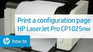 Printing a Configuration Page | HP LaserJet Pro CP1025nw Color Printer | HP