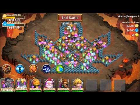 Castle Clash Insane Dungeon Level 2 1-6 New Update