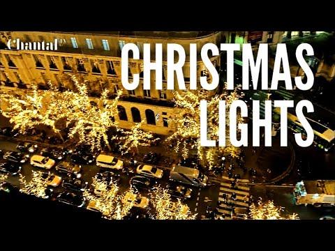 Christmas Lights Paris 2019 On Boulevard Haussmann