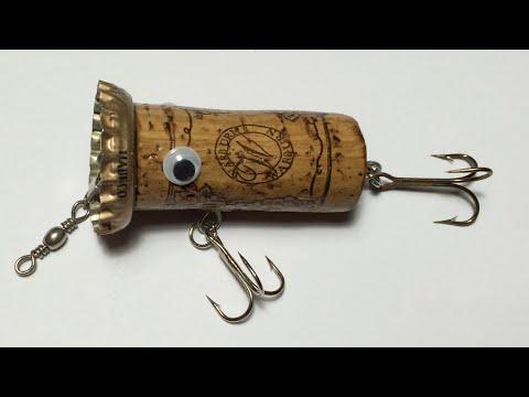 How To Make Topwater Lure From Wine Cork(4)DIY Fishing Hacks - Cách Làm Lure Nút Chai